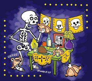 guion teatral muertos