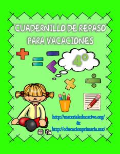 CuadernilloDeRepasoVacaciones4to