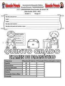 ExamenDiagnosticoQuintoGrado