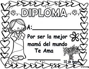 Fantásticos Y Bonitos Diplomas Para El Día De Las Madres