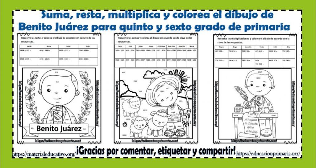 Excelente Material Suma Resta Multiplica Y Colorea El Dibujo De