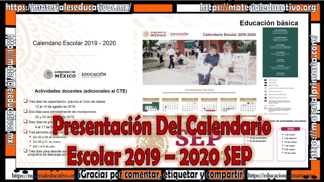 calendario 2020 escolar 2020 sep